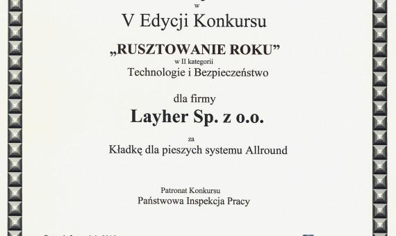 I nagroda – Layher
