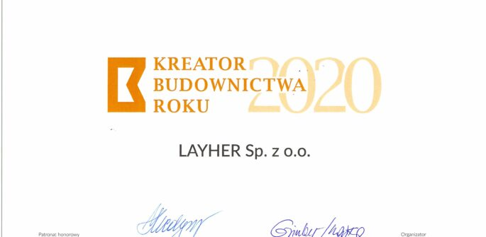 Nagroda Kreator Budownictwa 2020